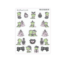 Farmhouse Pink Ice Buffalo Plaid Holiday Dragon Stickers - The Planner's World