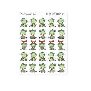 Holiday Times Dragon stickers - The Planner's World