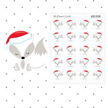 White Fox stickers - christmas fox - deco - christmas planner stickers - fox stickers - fox planner sticker - The Planner's World