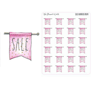 Sale Banner planner stickers - The Planner's World