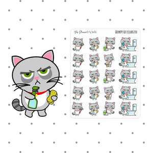 Grumpy Cat Cleaning Stickers - The Planner's World