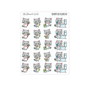 Grumpy Cat Cleaning planner Stickers - The Planner's World