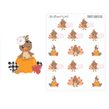 Turkey Labels - Thanksgiving Stickers - Planner Stickers - Thanksgiving planner stickers - November planner stickers - plaid - The Planner's World