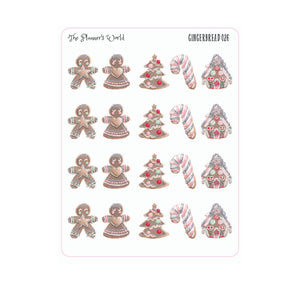 Gingerbread planner stickers - christmas stickers - deco - sampler - winter - planner sticker - The Planner's World