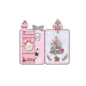 Pink christmas mini planner die cut Sticker - The Planner's World