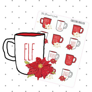 Holiday Christmas Mugs Planner Stickers - The Planner's World