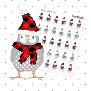 winter Holiday Birdies planner stickers - The Planner's World