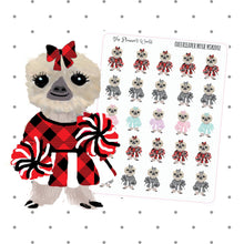 Moxie the Cheerleader sloth planner stickers - The Planner's World