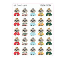 Ugly Sweater Moxie - planner stickers - winter - christmas stickers - christmas - sloth stickers - sloth - ugly sweater stickers - The