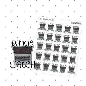 Binge Watch Laptop Planner Stickers - The Planner's World
