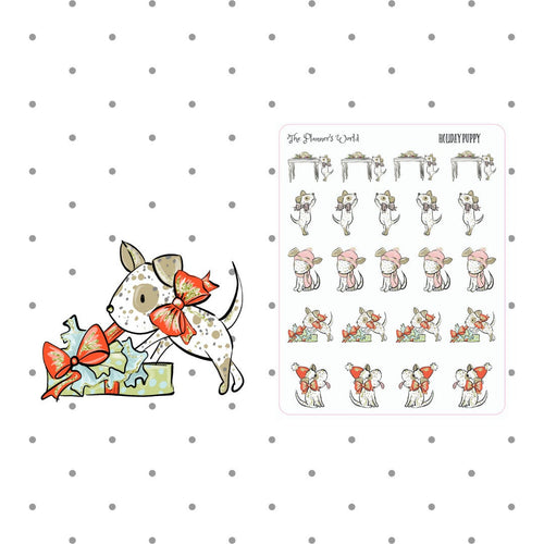 Pageant the Puppy Holiday Puppy planner stickers - The Planner's World
