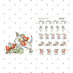 Pageant the Puppy Holiday Puppy stickers - The Planner's World