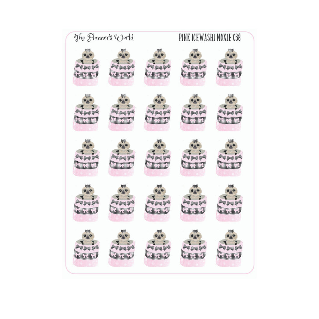 Farmhouse Pink  Ice Buffalo Plaid Washi Moxie Stickers - The Planner's World