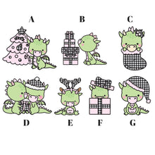 Farmhouse Pink Ice Buffalo Plaid Holiday Dragon Die Cuts - The Planner's World