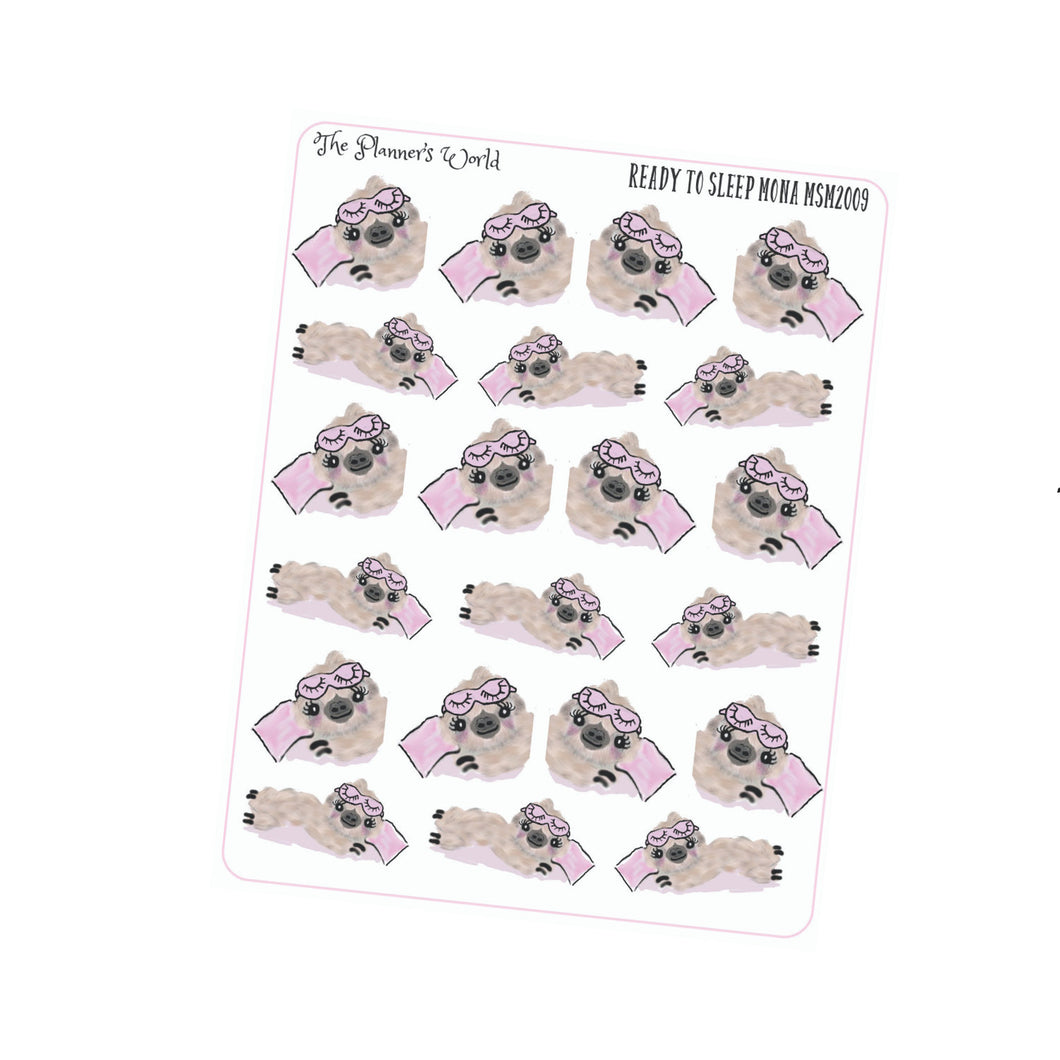 Ready to sleep stickers - sloth stickers - cute sloth planner stickers - planner stickers - sleep time - nap - sticker - The Planner's World
