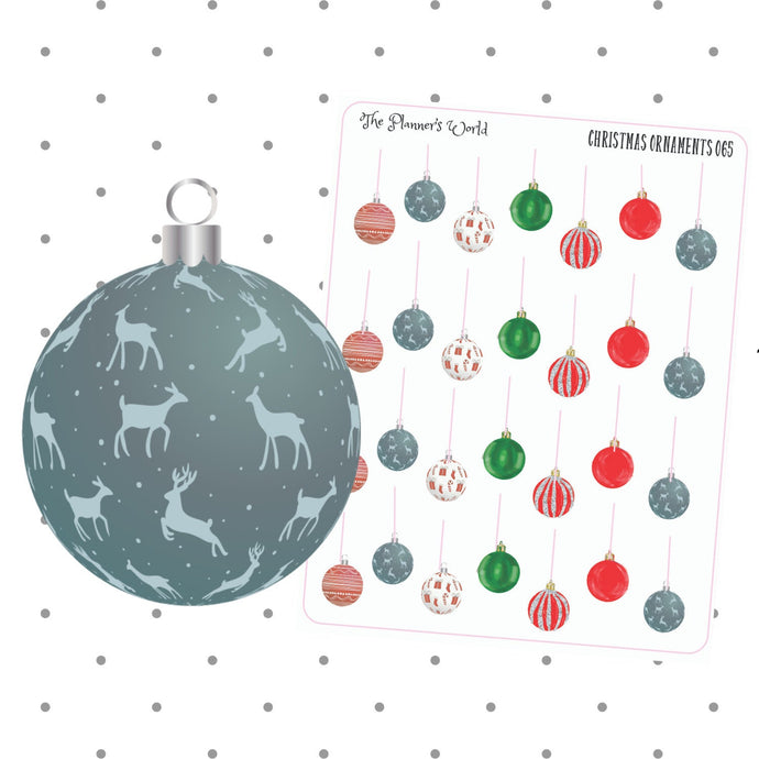 christmas ornament planner stickers - The Planner's World
