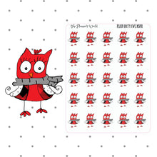 Buffalo Plaid Owl Stickers - The Planner's World