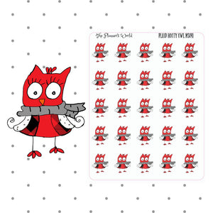 Owl Stickers - owl planner stickers - planner stickers - hand drawn stickers - plaid - owl stickers - hand drawn  sticker - buffalo plaid