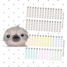 Kawaii Sloth Checklist Flag Stickers - The Planner's World