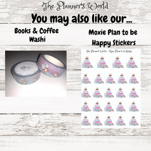 books & coffee planner stickers - The Planner's World