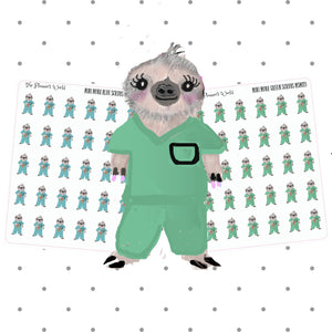 Nurse Mona the Sloth Stickers - The Planner's World