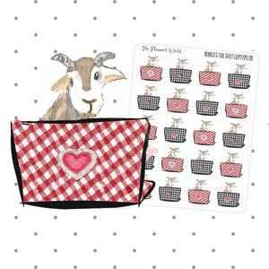Nibbles the goat Laptop stickers - The Planner's World