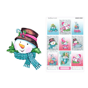 Snowman's Journey Planner Stickers - The Planner's World