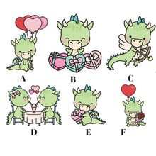 valentines dragon die cuts - The Planner's World