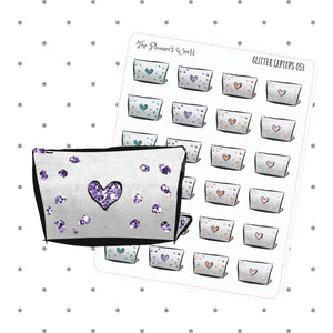 Glitter Laptop stickers - The Planner's World