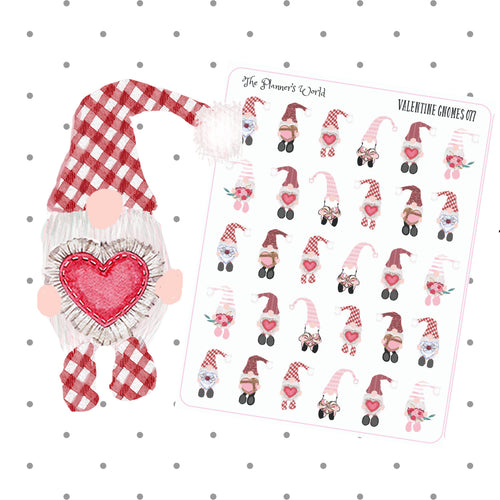 Valentine Swedish Gnome planner stickers - The Planner's World