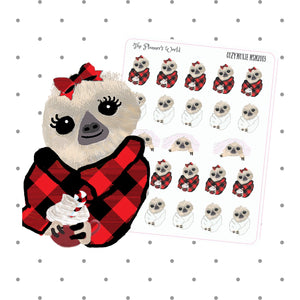 Cozy Moxie Sloth Functional Planner Stickers - The Planner's World