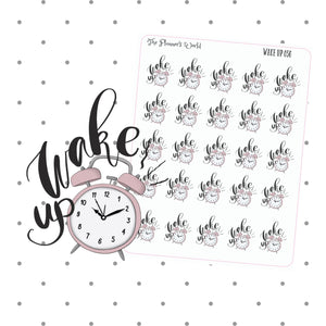 Wake Up Stickers - Text Stickers - planner stickers