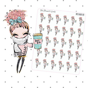 Coffee girl stickers - boss babe planner stickers - The Planner's World