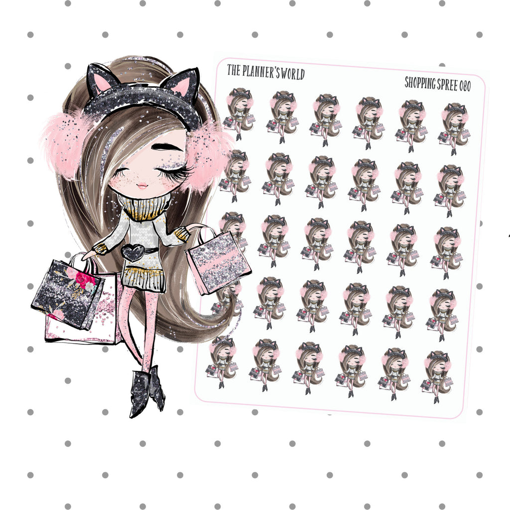 Shopping Spree Planner Girl Stickers - The Planner's World