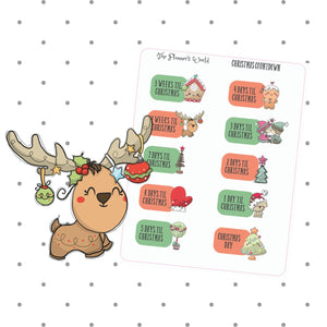 Christmas Countdown planner stickers - countdown stickers - The Planner's World