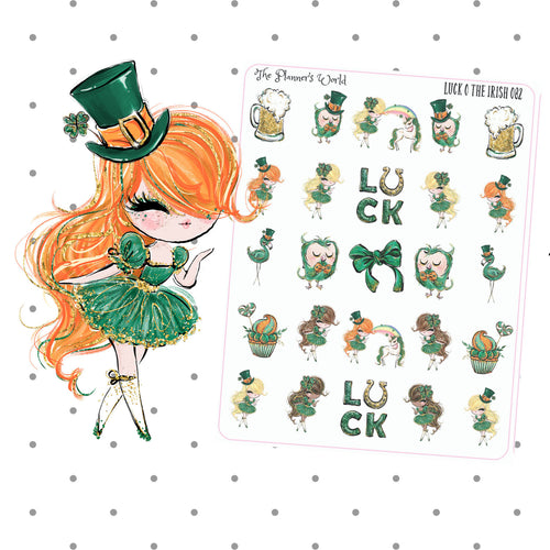 St Patricks Day Irish holiday planner stickers - The Planner's World