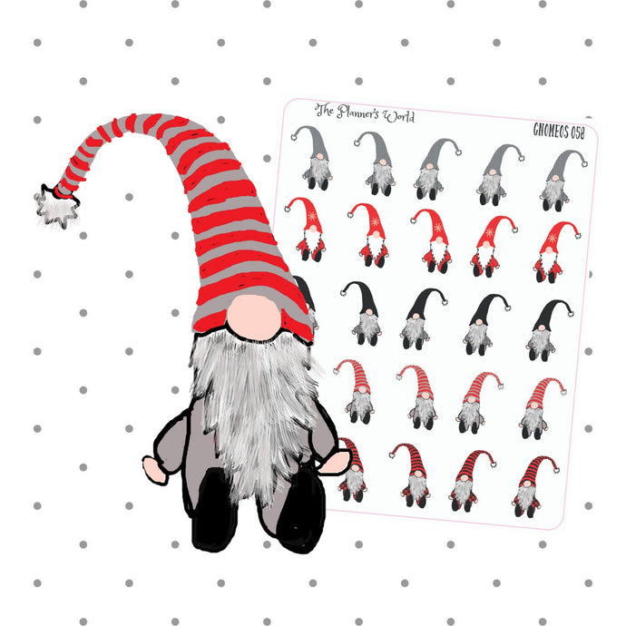 Hand drawn Gnome planner stickers - swedish troll sticker - The Planner's World