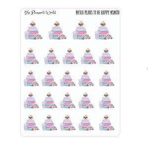 Moxie Plans to be Happy Reading Sticker - The Planner's World