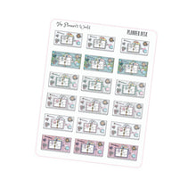 Working flat lay stickers - hobonichi weeks functional stickers - plan with me - flat lay planner stickers - The Planner's World