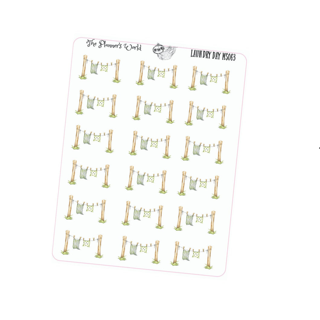Laundry Planner Stickers - The Planner's World