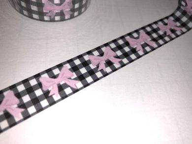FARMHOUSE PLAID PINK BOW WASHI TAPE - The Planner's World