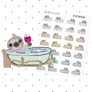 Me Time Sloth Planner sticker - The Planner's World