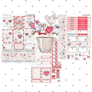Vintage Valentine Vertical Mini Kit - The Planner's World