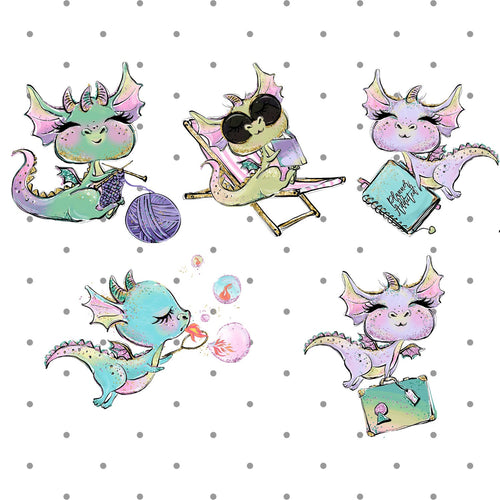 Dragons Relaxing Die Cuts - The Planner's World
