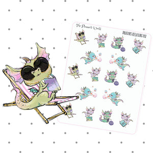 Dragons Relaxing Planner Stickers - The Planner's World
