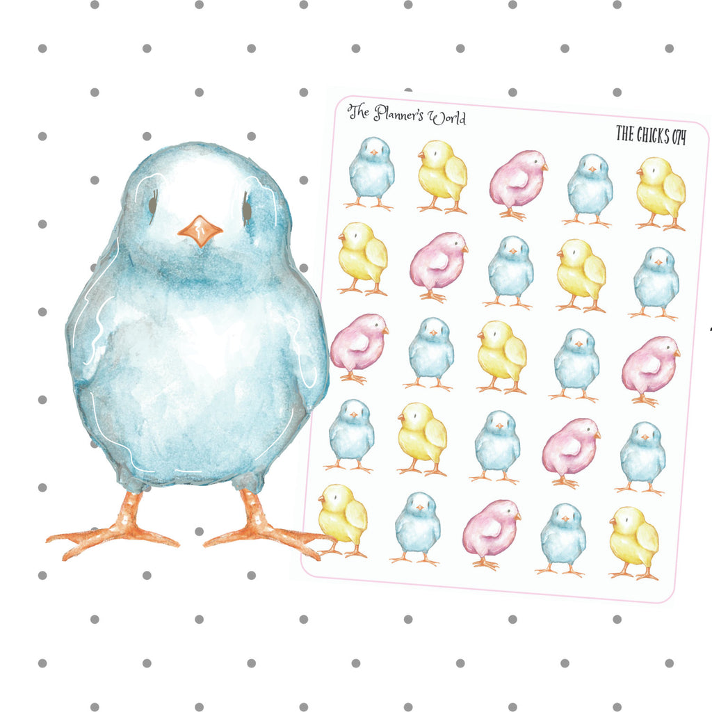 Easter Chick planner stickers - The Planner's World