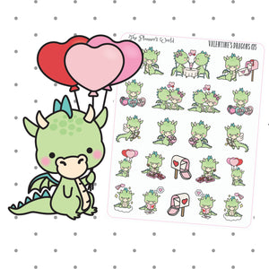 Love is in the Air Dragon Planner stickers - The Planner's World