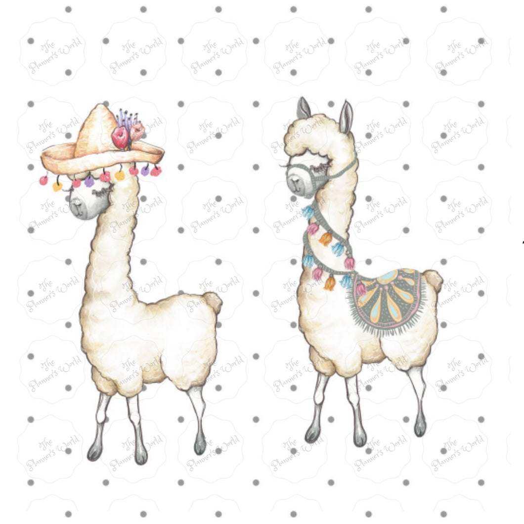 Llama Love Planner Die Cuts - The Planner's World