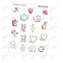 Mad Tea party stickers - The Planner's World