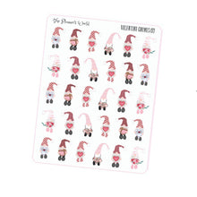 Swedish Gnome planner stickers - valentines stickers - swedish gnome sticker - gnomeo - scandinavian gnomes - handdrawn sticker - cute